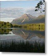 Reflections Lake Pioneer Peak Alaska Metal Print