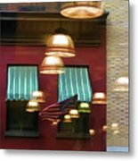 Reflections Light Buildings  Metal Print