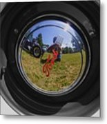 Reflections Of A Carshow Metal Print