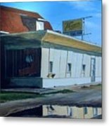Reflections Of A Diner Metal Print