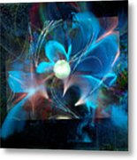 Reflections Of A Flower In The Moonlight Metal Print