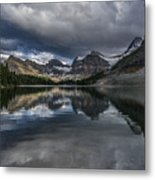 Reflections Of Assiniboine Metal Print