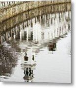 Reflections Of Church Metal Print