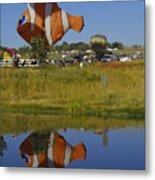 Reflections Of Flounder Metal Print
