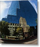 Reflections Of Fort Worth Metal Print