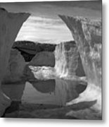 Reflections Of Ice Metal Print