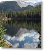 Reflections Of Majestic Mountains Metal Print