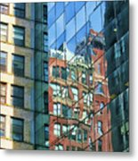 Reflections Of Manhattan Metal Print
