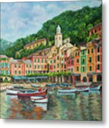 Reflections Of Portofino Metal Print by Charlotte Blanchard