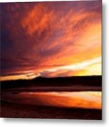Reflections Of Red Sky Metal Print