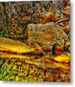 Reflections Of Rock Metal Print