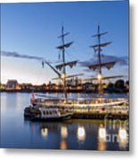Reflections Of Tall Ships Metal Print by Andrew Lalchan