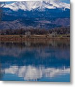 Reflections Of The Twin Peaks Metal Print