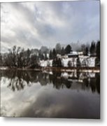 Reflections Of Winter Flood Metal Print