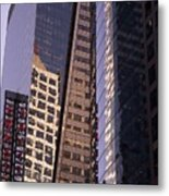Reflections Off The Buildings Metal Print
