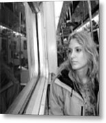 Reflections On A London Train Metal Print