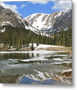 Reflections On Chinns Lake 6 Metal Print