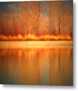 Reflections On Fire Metal Print