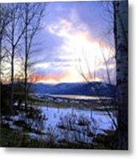 Reflections On Lake Okanagan Metal Print
