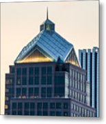 Reflections On Legacy Tower Metal Print