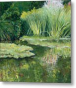 Reflections On Monets Lily Pond Metal Print