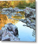 Reflections On Rocky Creek 2 Metal Print