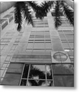Reflections On The Building Metal Print