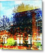 Reflections On The Old Depot Metal Print