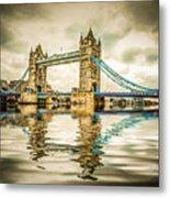 Reflections On Tower Bridge Metal Print