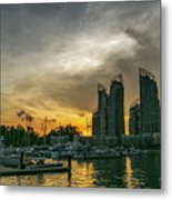 Reflections Singapore Metal Print