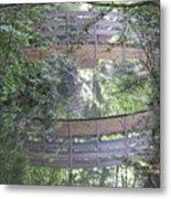 Reflections The Bridge Metal Print