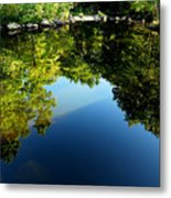 Reflections Trees Metal Print