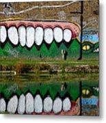 Reflective Canal 12 Metal Print