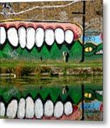Reflective Canal 13 Metal Print