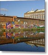 Reflective Canal 4 Metal Print