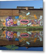 Reflective Canal 5 Metal Print