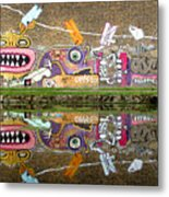Reflective Canal 8 Metal Print
