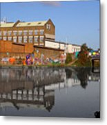 Reflective Canal Metal Print