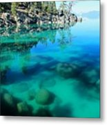 Reflective Liquid Dreams Metal Print