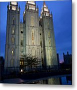 Reflective Temple Metal Print