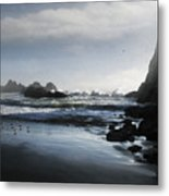 Refuge In The Shadow Metal Print by Cliff Hawley