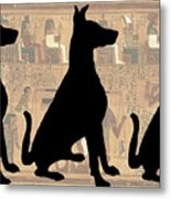 Regal Sit, Ancient Egyptian Background Metal Print