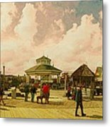 Rehoboth Beach In Fall Metal Print