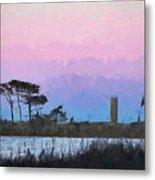 Rehoboth Beach Sunset Metal Print