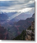 Reign Of Light Over The Canyon Metal Print