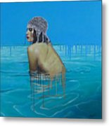Rela In The Sea Metal Print