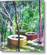 Relax Here Metal Print