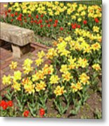 Relaxation In The Garden Metal Print