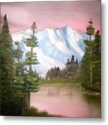 Relections In Pink Metal Print