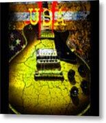 Relic Guitar Music Patriotic Usa Flag Metal Print